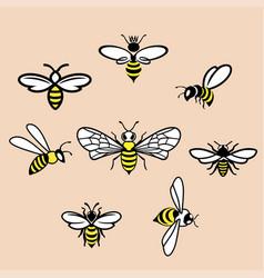 honey icons set vector image