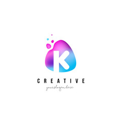k letter dots logo design with oval shape vector image vector image