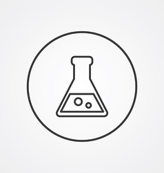 laboratory outline symbol dark on white background vector image vector image