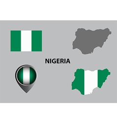 Map of Nigeria and symbol vector image vector image