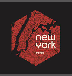 New york hyped t-shirt and apparel design vector