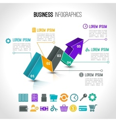 Business charts infographic vector image vector image