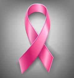 Cancer pink ribbon vector