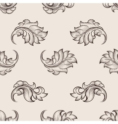 Engraved floral pattern vector