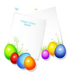 Pic with eggs vector image vector image