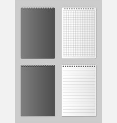 realistic blank open and closed notebook organizer vector image vector image