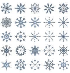 Snowflake set colroful vector image vector image