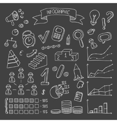 Business and finance hand drawn infographic design vector image