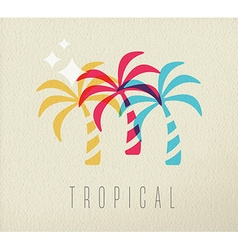 Colorful palm tree summer concept background vector image vector image