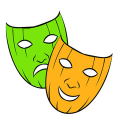 comedy tragic and icon cartoon vector image