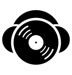 DJ sign vector image vector image