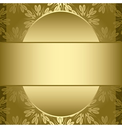 gold card with gold pattern vector image vector image
