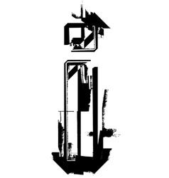 Grunge Font vector image vector image