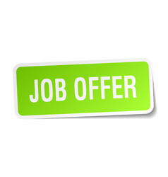 job offer square sticker on white vector image vector image
