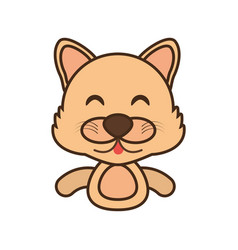 Wolf baby animal funny image vector