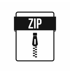 ZIP file icon simple style vector image vector image