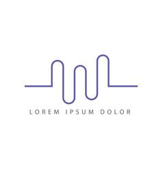 3 wave logo design vector image