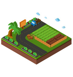 3d design for farmland vector