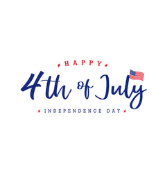4th july independence day lettering banner vector