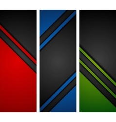 Abstract dark tech banners vector image vector image