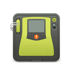 Automated external defibrillator realistic icon vector