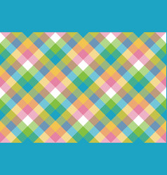 Baby color pixel plaid seamless pattern vector