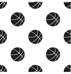basketball icon black single sport icon from the vector image