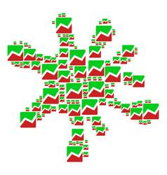 blot shape of analytics chart icons vector image