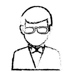 businessman worker with glasses isolated icon vector image