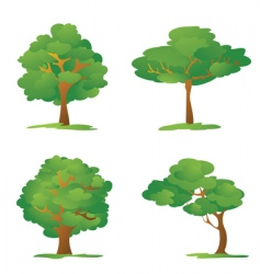 cartoon trees vector image vector image