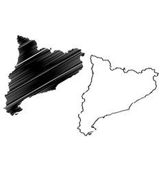 Catalonia map vector