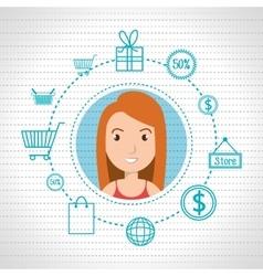 character money buy web woman vector image