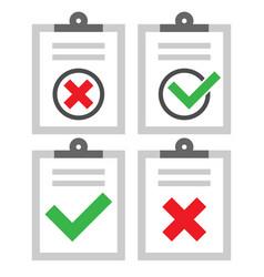 Checklist marks symbol set vector