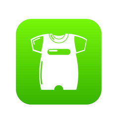 children slider icon green vector image