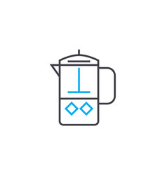 coffee pot linear icon concept coffee pot line vector image