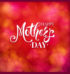 colorful vibrant red mothers day card design vector image