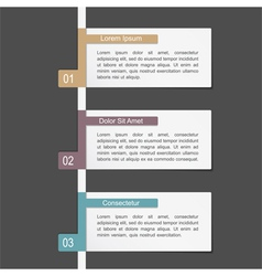 Design Template with Three Elements vector