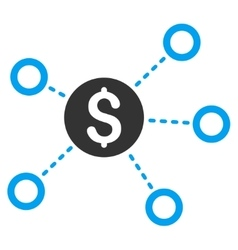 Dollar Network Links Flat Icon vector