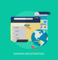Domain registration conceptual design vector