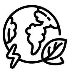 eco globe earth icon outline style vector image