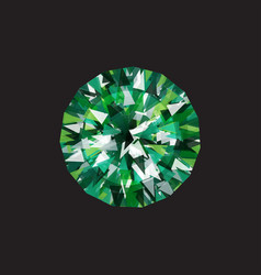 Emerald on a black background vector