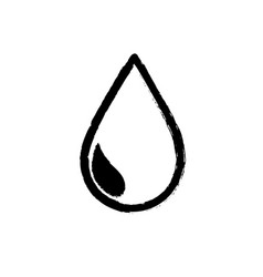 figure natural water drop to environment care vector image