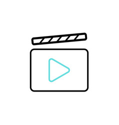 film video cinema icon vector image