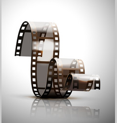 filmstrip on a gray background vector image