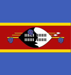 Flag of kingdom of eswatini - swaziland official vector