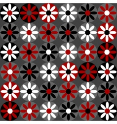 Floral daisy pattern vector