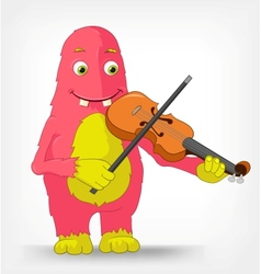 Funny Monster Violinist vector