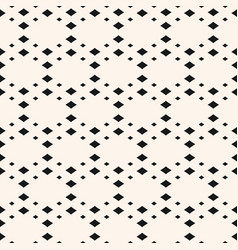 geometric seamless pattern with small diamond vector image