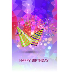 Happy birthday Hats and Confetti Surprise vector image