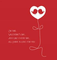 happy birthday one heart vector image